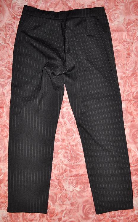 calça reta preta P feminina risca de giz, brechotreschic, brechó très chic, brechó online, calças, risca de giz, ofertas,