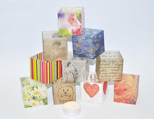 Mini luminárias para decorar mesa de festa