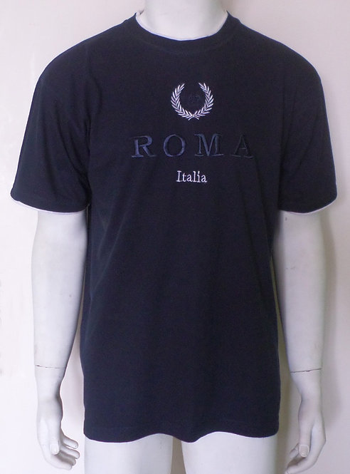camiseta masculina azul marinho G, camisetas, brechotreschic, brechó très chic, roupas masculinas, roupa de brechó para homem