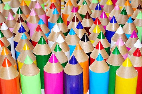 lembrancinhas, souvenir, festas, aniversários, lápis de cor para festa infantil, lápis de papel, lápis de papelão, lápis cor