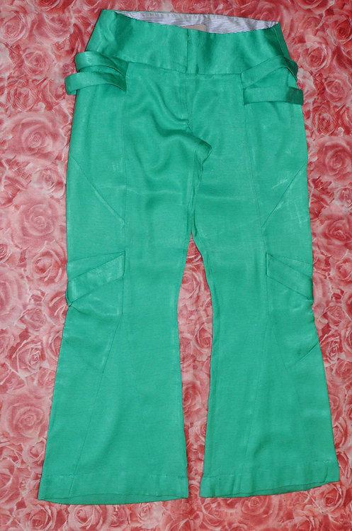 Calça flare verde 42 Mellina, calça flare 42, calça verde flare, brechotreschic, brechó très chic, brechó online, calças