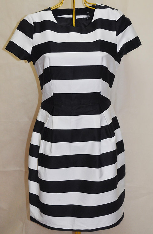 vestido listrado preto e branco, vestido, brechó online, brechó très chic, brechotreschic, roupas online, ofertas, moda her
