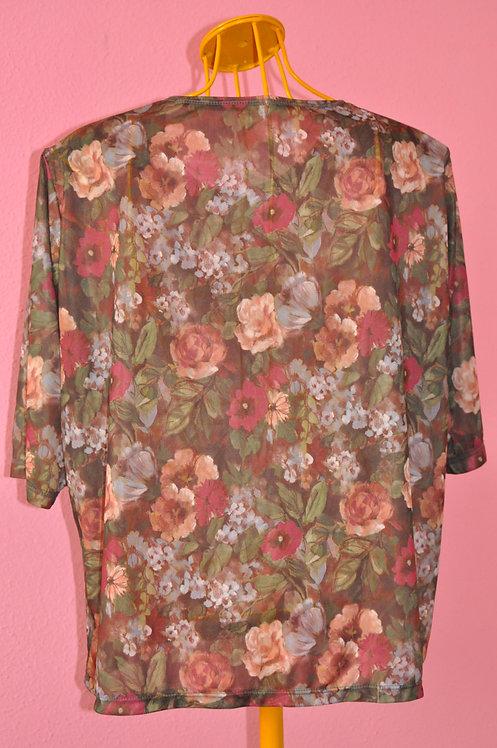 Brechó Très Chic blusa de malha floral tamanho G