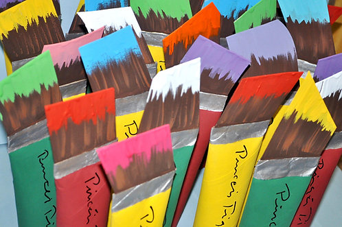 pinceis grandes, pinceis para decorar festas, lembrancinhas, enfeites para festas infantil, crianças, niver de crianças,