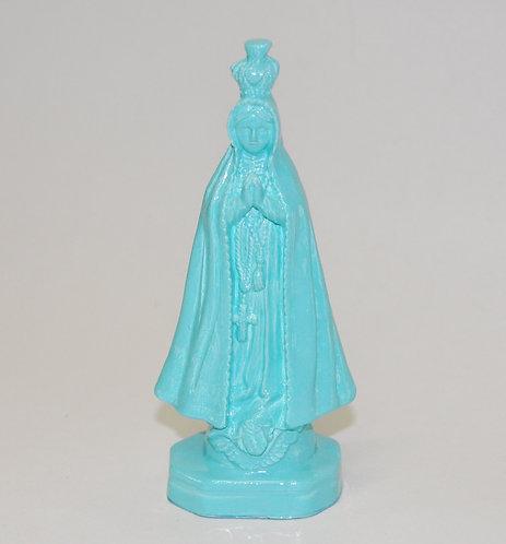 Nossa Senhora Aparecida, imagem da santa, cor tiffany, imagem na cor tiffany, santa, padroeira do Brasil