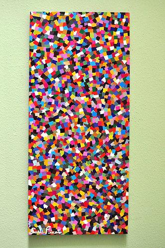 Chuva de papel picado obra se Sueli Finoto www.suelifinoto-art.com.br