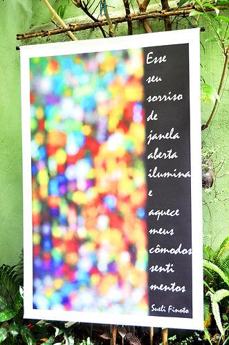 Banner poético para decoração de ambientes de Sueli Finoto