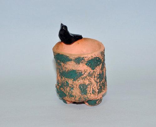 cerâmica feita a mão efeito rústico, vasinho para suculentas, mini vasinhos