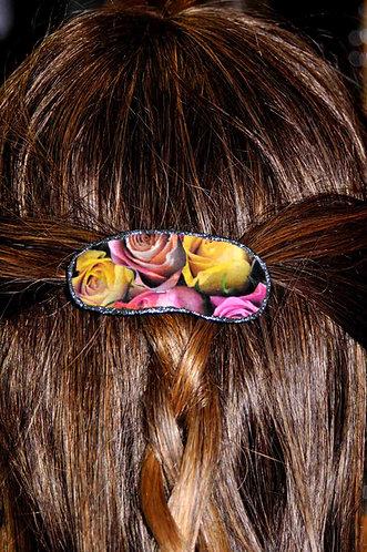 presilha de cabelo artesanal, prendedor de cabelo, presilha floral, gosto de rosas, loja virtal, Sueli Finoto, acessórios fem