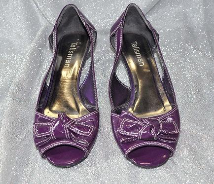 sapato baixo roxo nº 36, Brechotreschic, Brechó Très Chic, vendas online, brechó online, sapato fechado roxo 36, compras