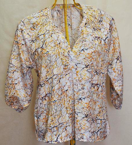 batinha solta Isabella Giobbi, blusa solta em algodão e seda, brechó très chic, brechotreschic, brechó online, roupas