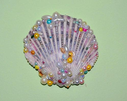 Sereismo conchas naturais decoradas a mão com contas diversas