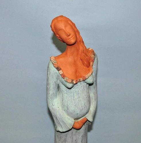 Vênus exaltada escultura em cerâmica de Sueli Finoto