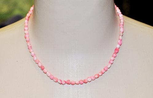 colar em coral rosado D'anjou, bijuteria, bijuteria com coral, colar