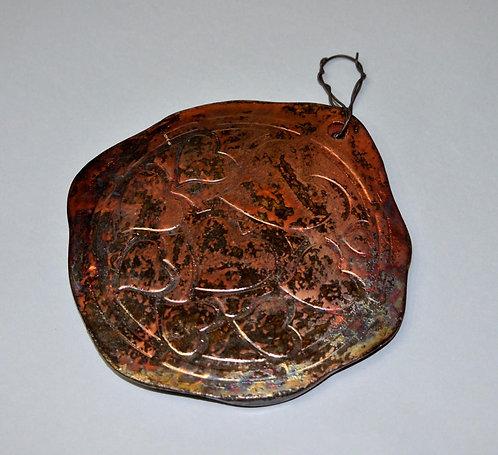 Corações, quadro decorativo em ceramica queima raku