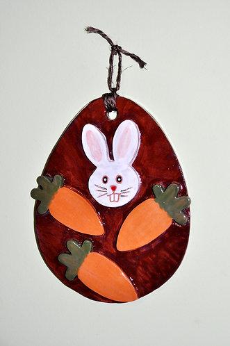 ovo de páscoa decorativo, ovo de pascoa, páscoa, decoração para a páscoa, coelho e cenouras, gifts, presentes, Sueli Finoto