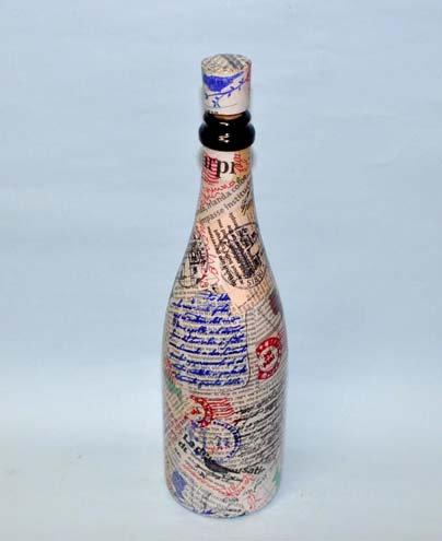 buidéal maisithe, garrafa decorada a mão, garrafa news, presentes para casa, decoração para casa, Sueli Finoto, loja virtual,