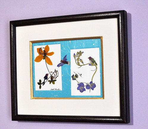 oshibana, arte com flores, oshibanas, quadro em oshibana, oshibana de Sueli Finoto, decoração com oshibanas, presentes, loja