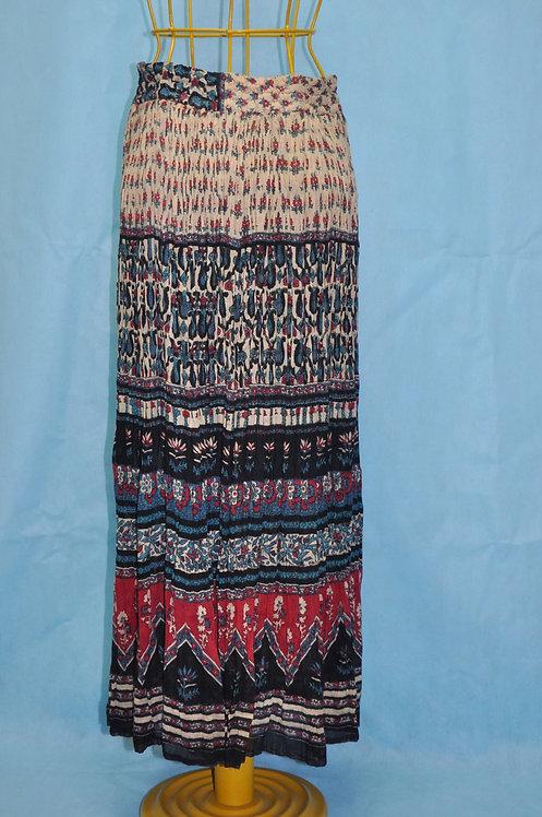 saia longa indiana, saia comprida estampada indiana, saias, brechotreschic, brechó très chic, roupa indiana, lojavirtual,
