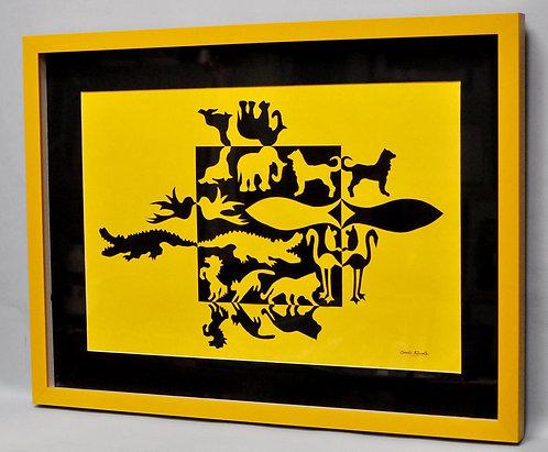 arte notan de Sueli Finoto, quadro Mundo animal, quadros, notan, artes