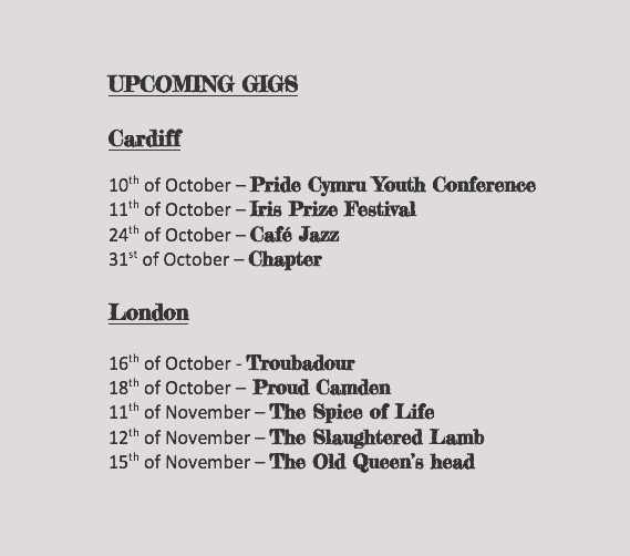 Upcoming gigs