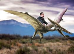 Flying on Pterodactyl Imagination