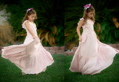Joyfolie Viola Dress in Soft pink. Size 6-10.