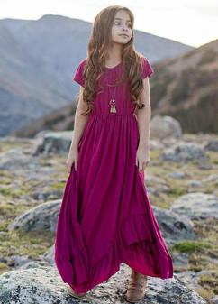 Joyfolie Braelyn Dress In Berry