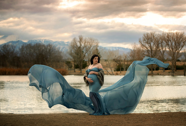 Sew Trendy Tossing Angela Gown in Slate Blue