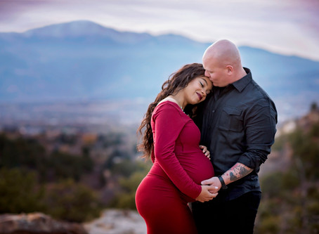 Adkin's Mountain View Maternity Session || Colorado Springs Photographer