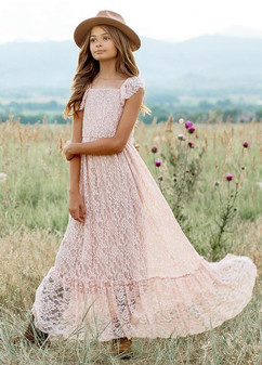 Joyfolie Arly Dress In Blush