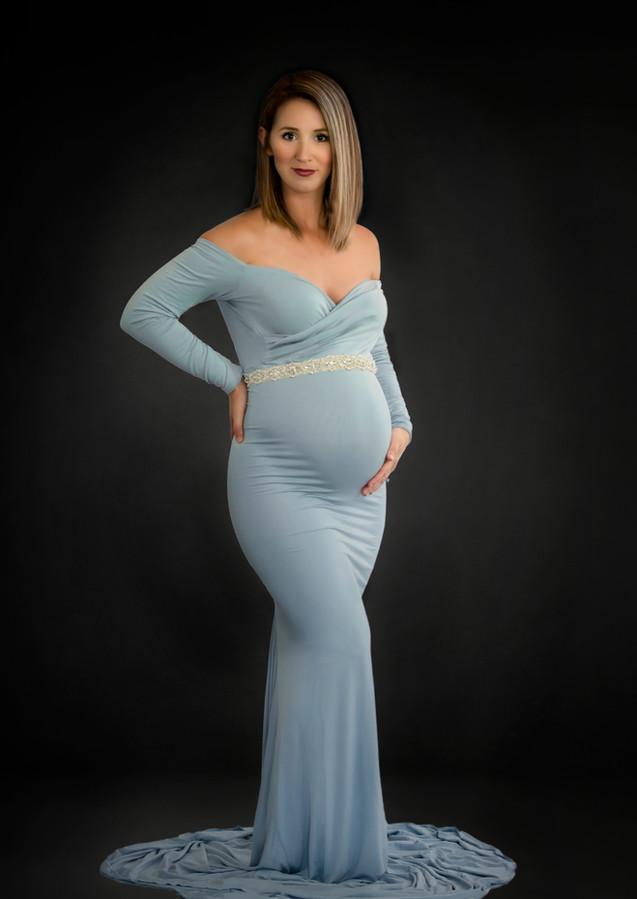 Sew Trendy Emerlie Gown in Blue Rain