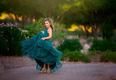 Joyfolie Catrin Dress in Teal Lace