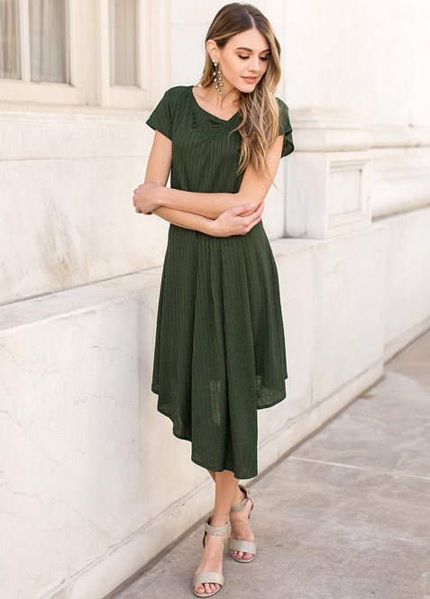 Joyfolie Marli Gown in Hunter Green