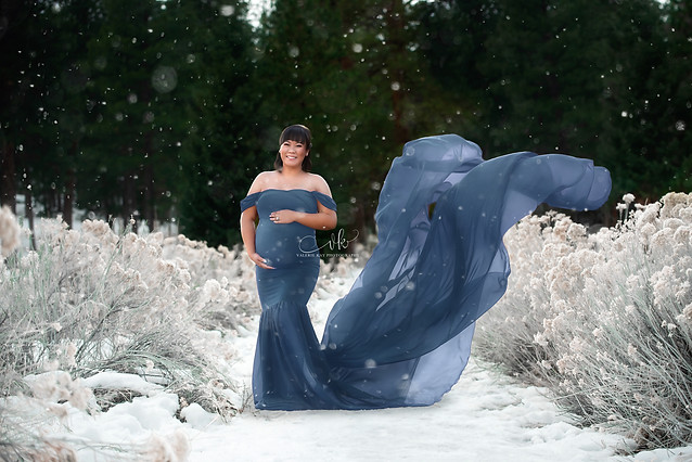 Sew Trendy Tossing Angela Gown in Steel Blue