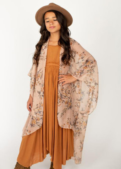 Joyfolie Floral Duster (mustard dress not included)