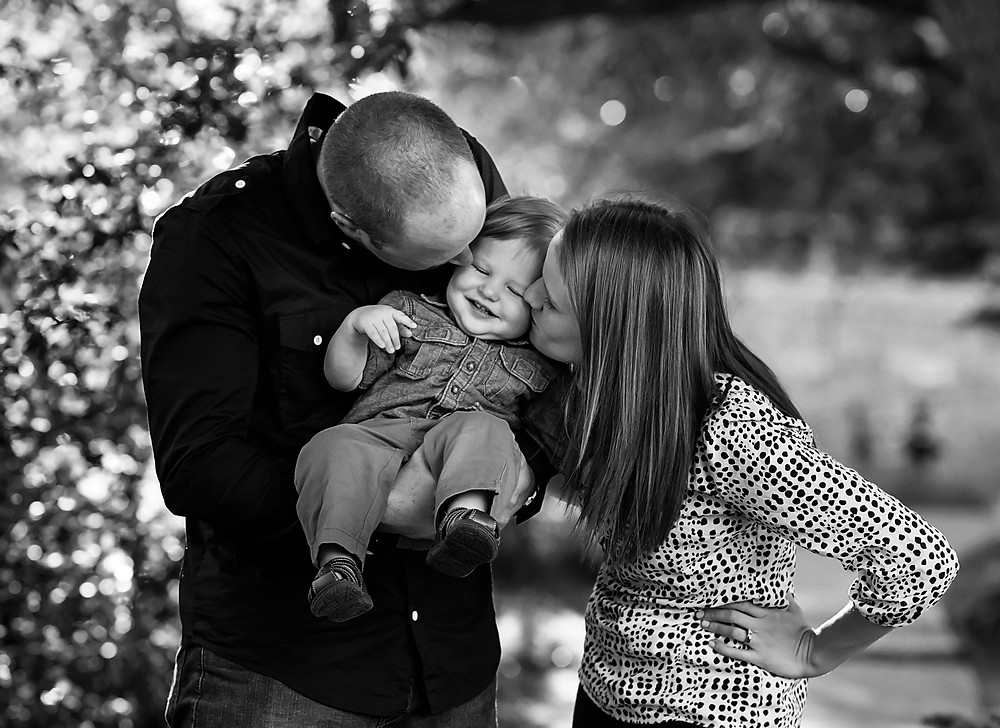 Rock Ledge Ranch Family Session Sweet Black and White image