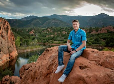 Tyler's Red Rock Senior Session    Colorado Springs Photographer