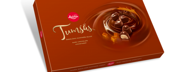 Конфеты ассорти тёмный шоколад LAIMA 215гр