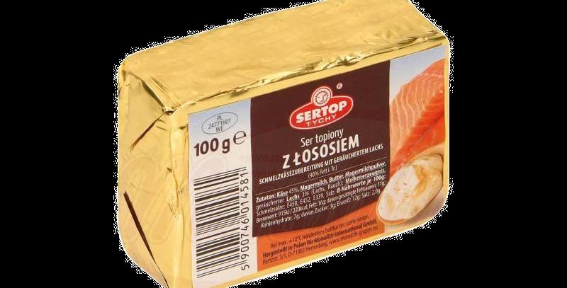 сырок плавленый с копчёным лососем 100гр