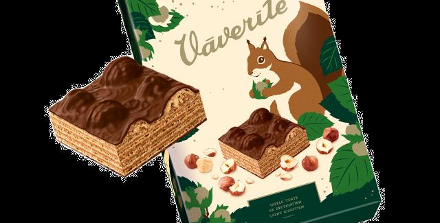 вафельный тортик с лесными орешками БЕЛОЧКА 350гр