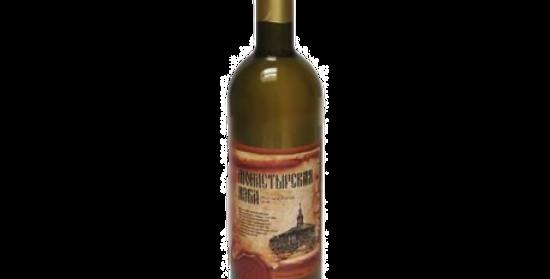 """""""Монастырская изба"""" Вино белое полусладкое alc.11,0% 0.75л"""