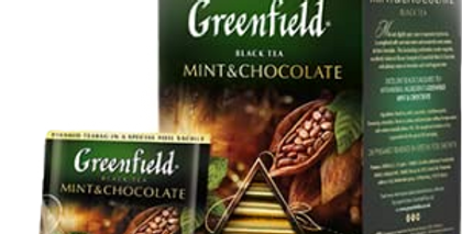 чай GREENFIELD Мята-Шоколад в пирамидках 20шт*1,8 гр