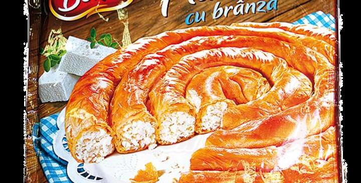 Пирог-улитка из слоёного теста с сыром 800гр