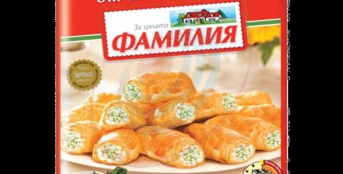 Рулеты из слоёного теста с сыром и луком порей 1кг