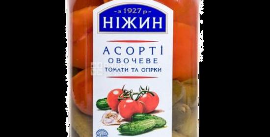 ассорти (томаты/огурцы) НЕЖИН 920гр