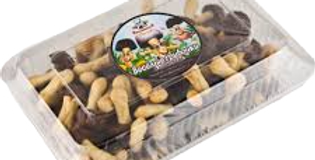 печенье ,,Весёлые грибочки,,чёр.шок. 250гр