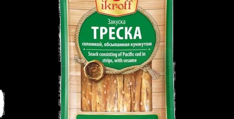 закуска ТРЕСКА посыпанная кунжутом 40 гр