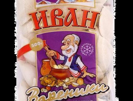 Вареники с картошкой и грибами 500 гр