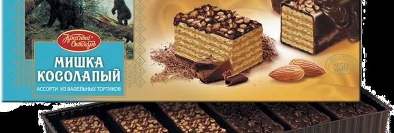 вафельные тортики МИШКА КОСОЛАПЫЙ  250гр